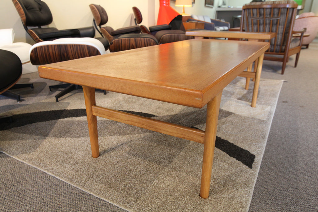 "Danish Teak Coffee Table (58""L x 23""W x 18""H)"