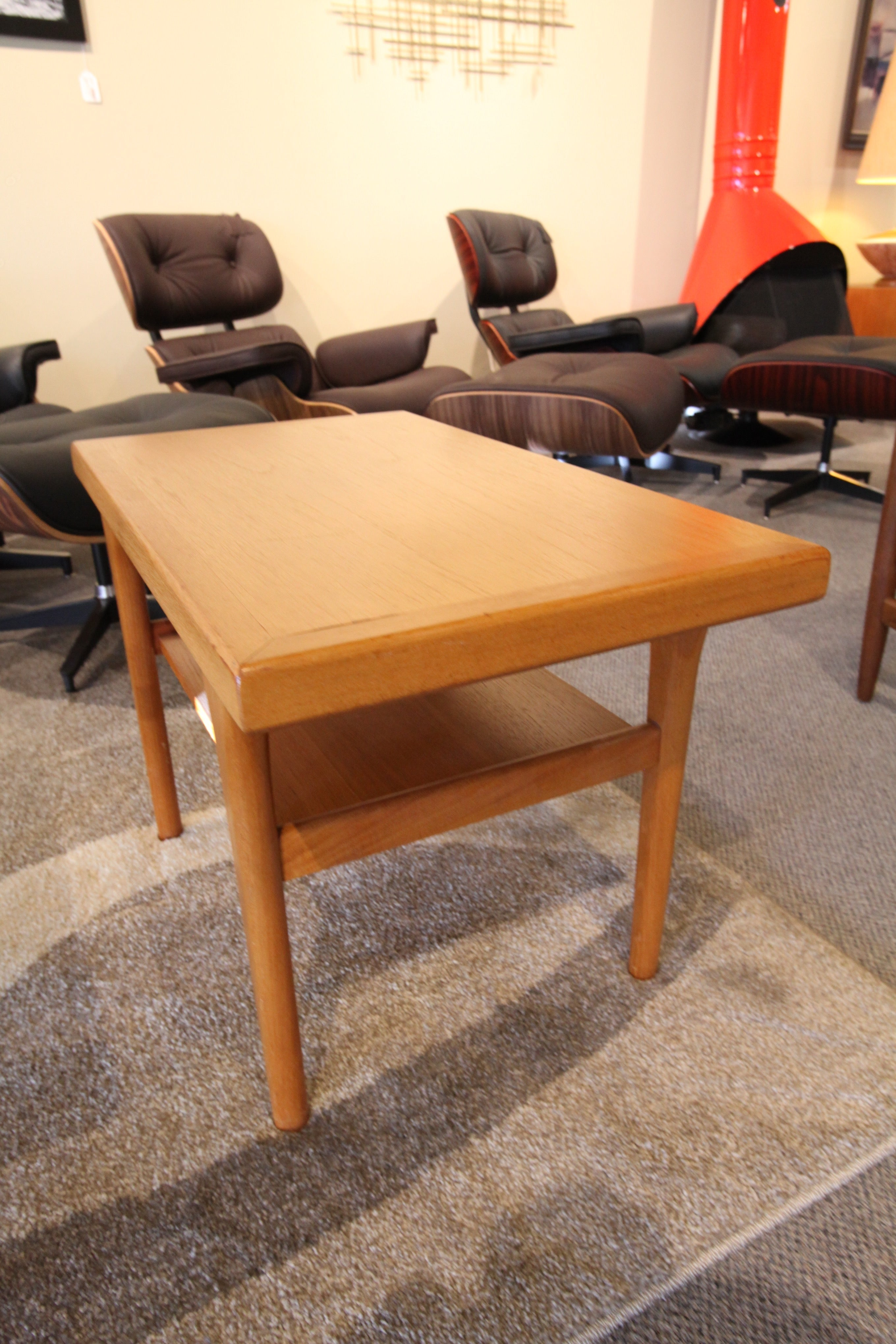"Danish Teak End Table (30""L x 17.5""W x 20""H)"