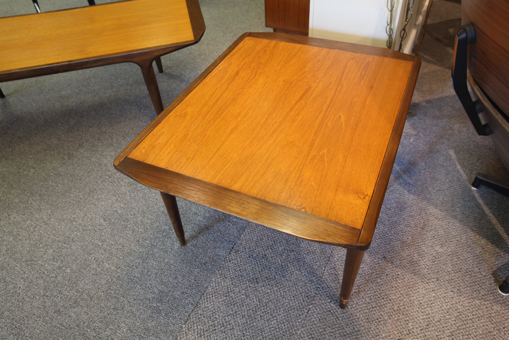 "Teak/Walnut End Table (28""L x 21.5""W x 17.75""H)"