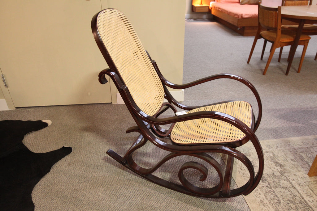 70's Wood Rocking Chair