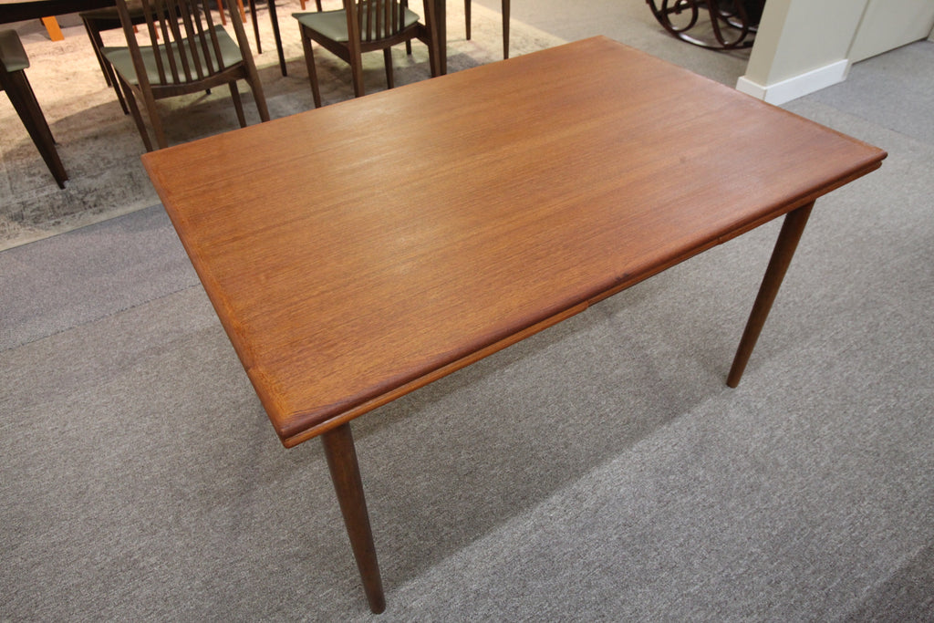 "Danish Teak Dining Table with Extensions (48"" x 32.5"") or (85"" x 32.5"")"
