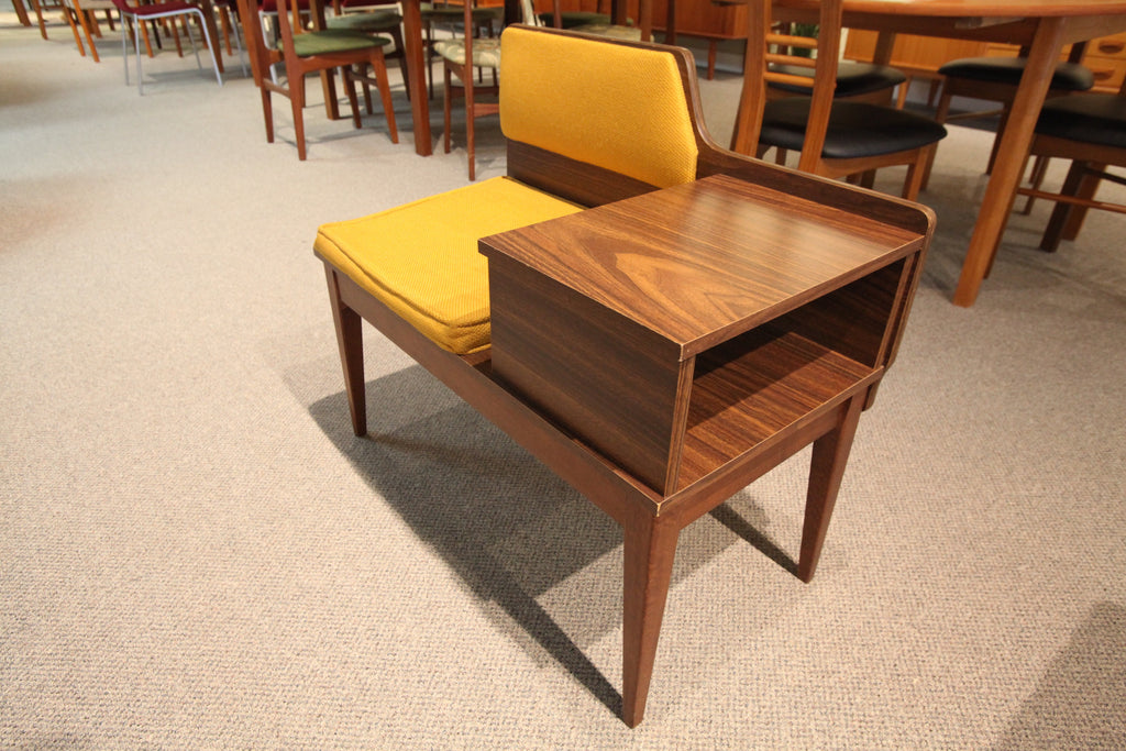 "Funky Mid Century Telephone Bench (32""W x 27.75""H)"
