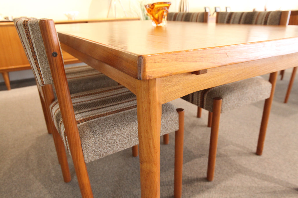 "Danish Teak Table with Pullout leafs (55"" x 35.5""0 or  (93"" x 35.5"")"