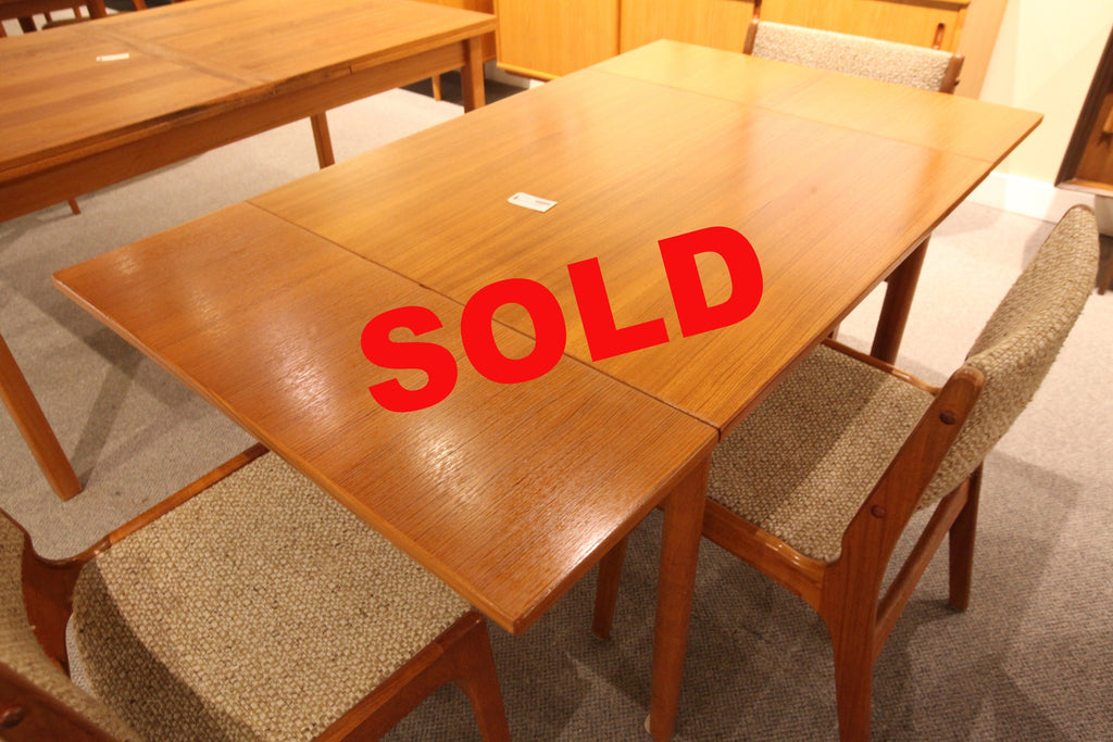 "Small Square Teak Table w/extensions (33"" x 33"") or (56"" x 33"")"