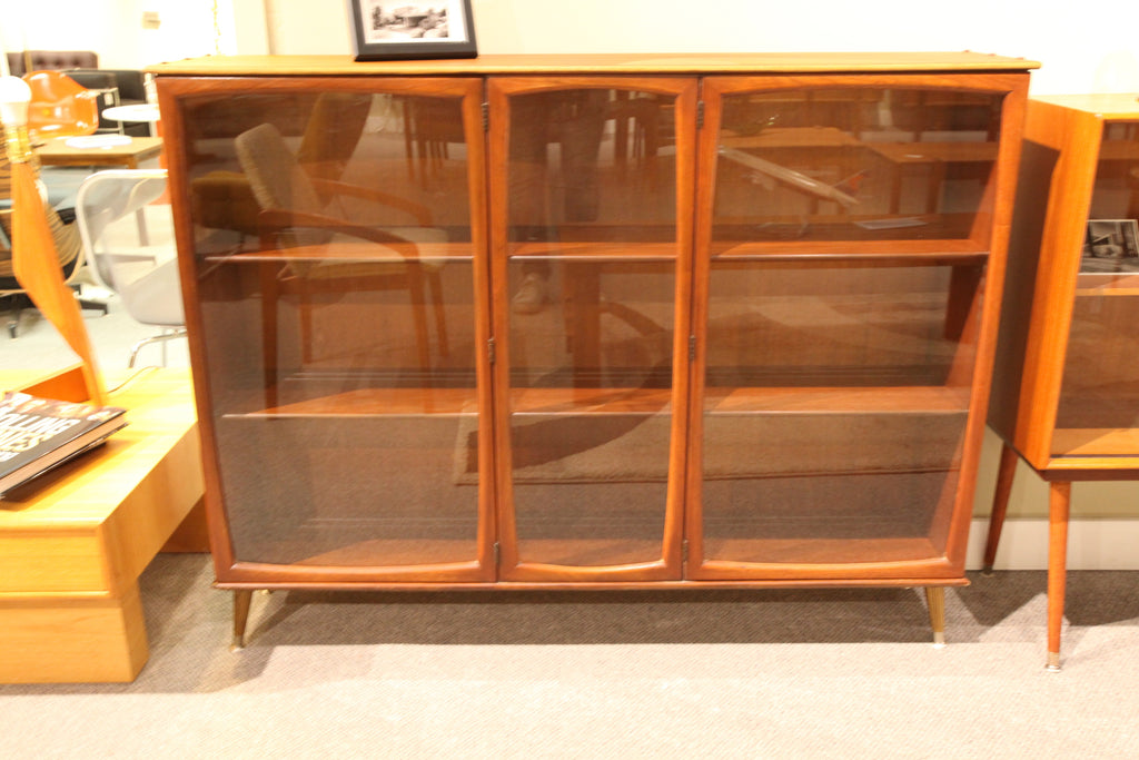 "McM Walnut Glass Hutch (54.5""W x 42.25""H x 11.75""D)"