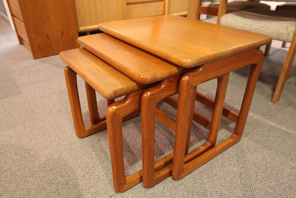 "Set of 3 Teak Nesting Tables (23""W x 17.5""D x 19.75H"")"