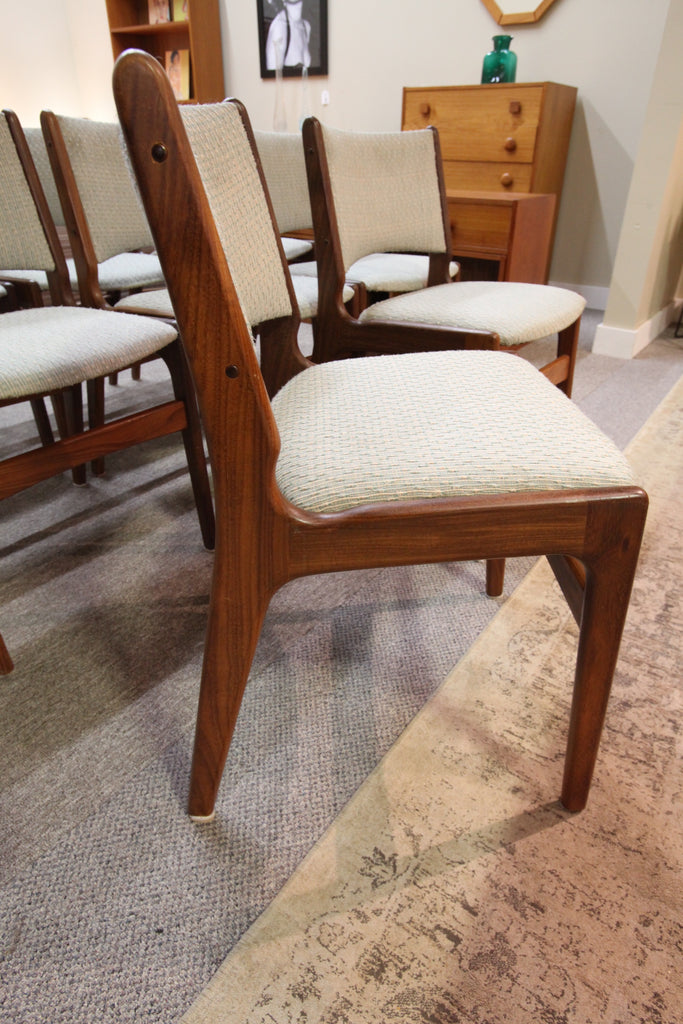 Set of 8 Vintage Danish Teak MCM Chairs