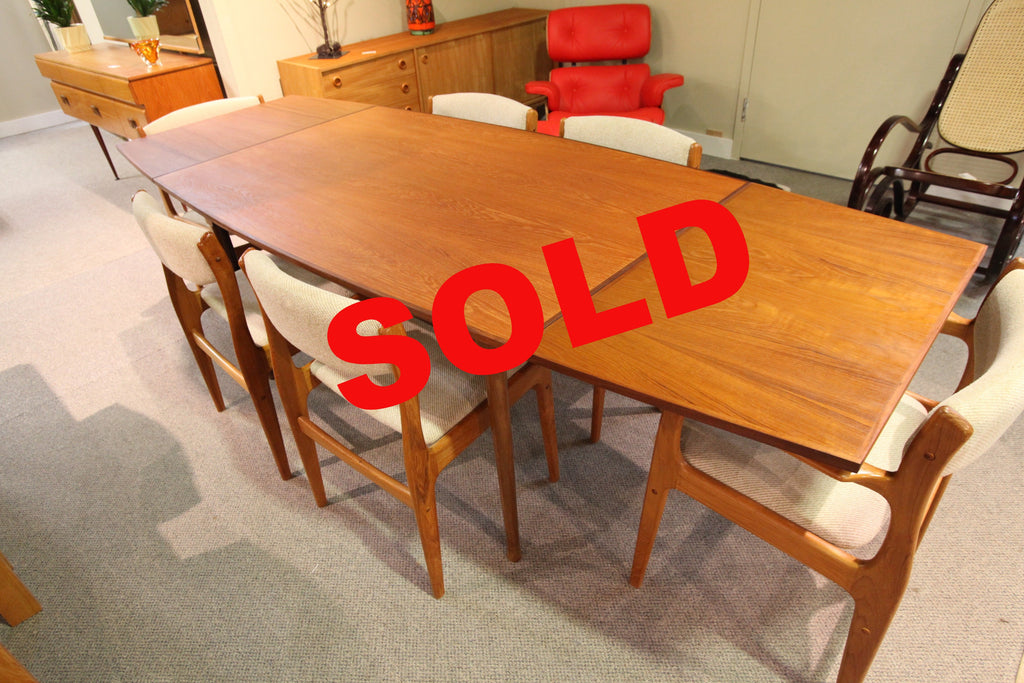 "RS Associates Teak Table w/Extensions (97.5""L x 37"") or (58""L x 37')"