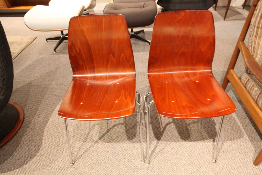 Mid Century Bentwood Pagholz Rosewood Chair (Royal Metal 1967)