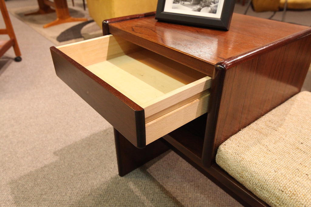 "Beautiful Rosewood Telephone/Entrance Way Bench (35.5W x 25""H x 16""D)"