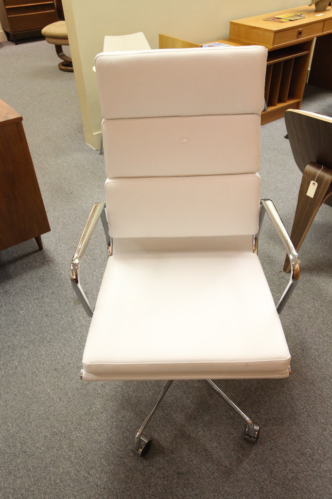Eames Replica Office Chair (White Leather)