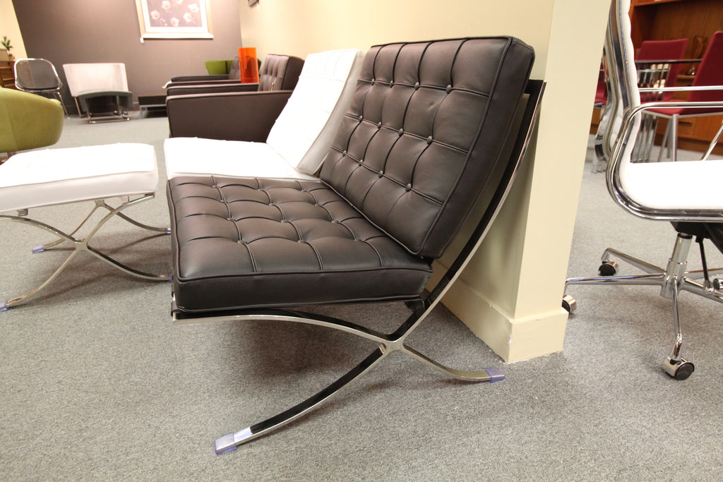 Barcelona Replica Chair (Black Leather)
