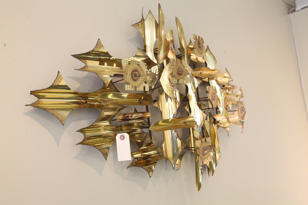 "Large Brass Metal Art (41""W x 24""H)"
