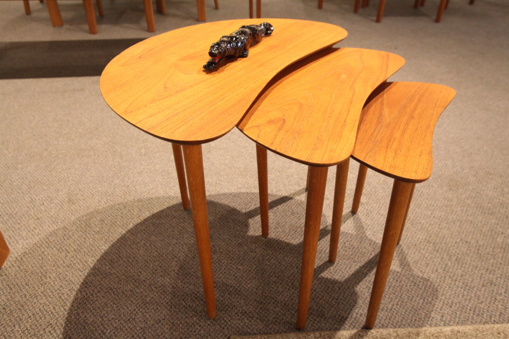 "Danish Teak Nesting Tables by Trap Christensen (set of 3) (25.5"" wide x 19.5"" high)"