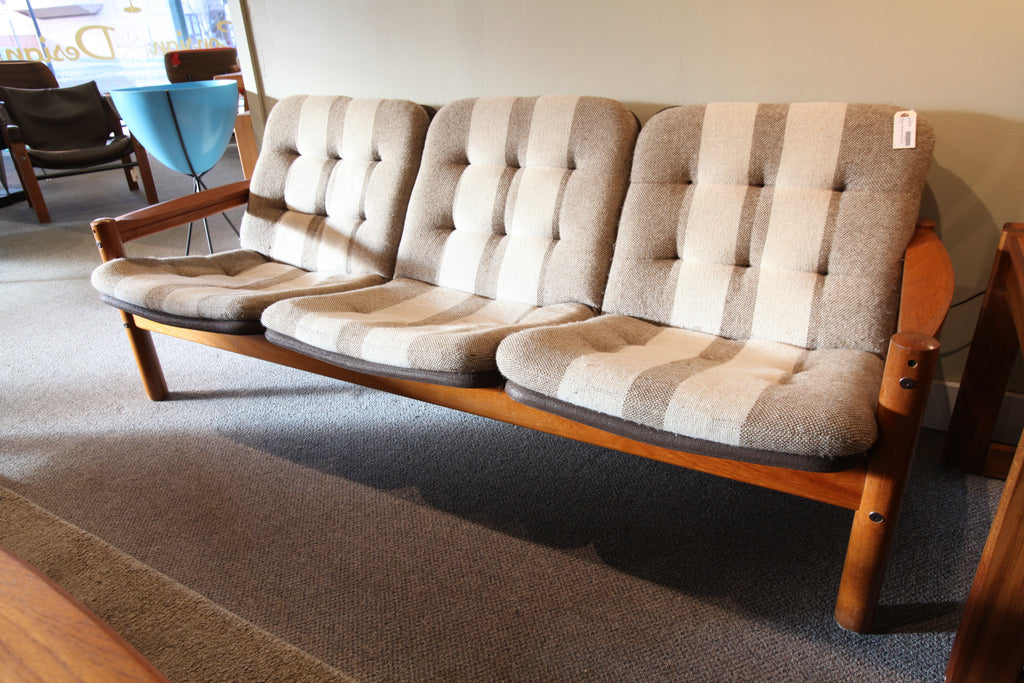 "Domino Mobler 3 Seater Danish Teak Sofa (72"" W)"