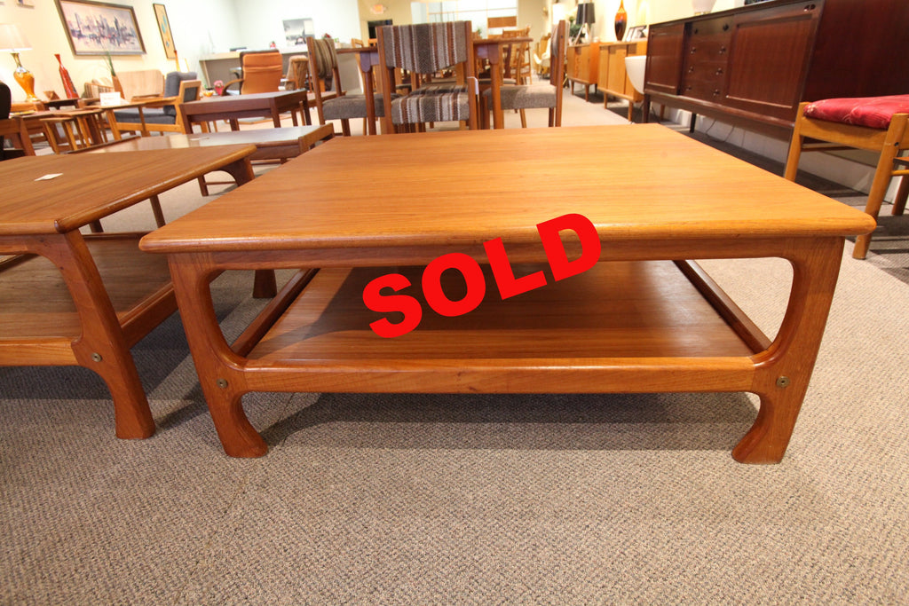 "Large Square Teak Coffe Table (40"" x 40"" x 17""H)"