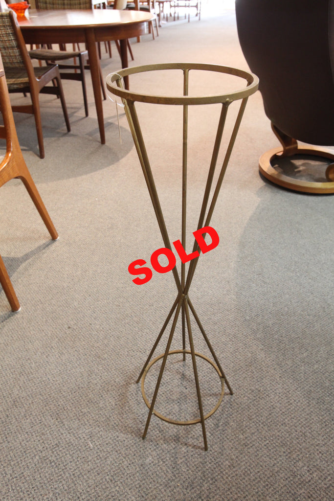 "Tall Brass Plant Stand (33""H)"