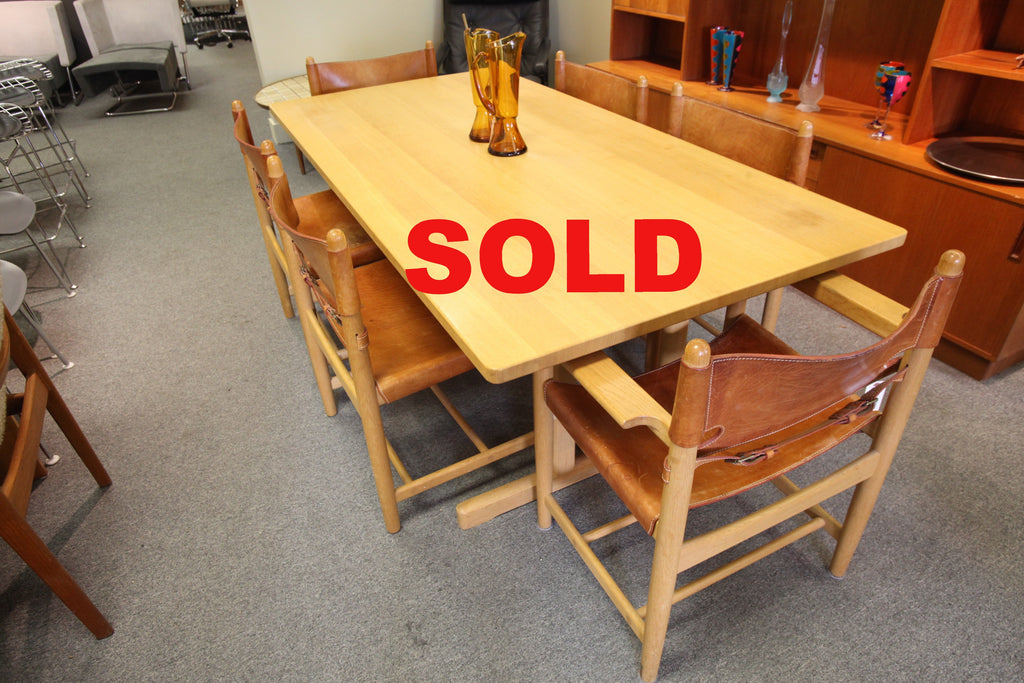 "Solid Oak Danish Dining Table by Borge Mogensen (77"" x 38"" x 27.5""H)"