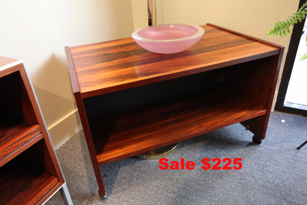 "Rosewood TV Stand on wheels (31"" x 20"" x 19.5""H)"