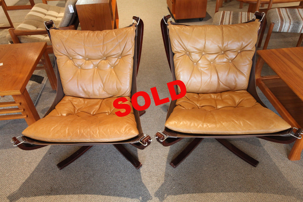 (Pair) of Original Sigurd Ressell Falcon Chairs
