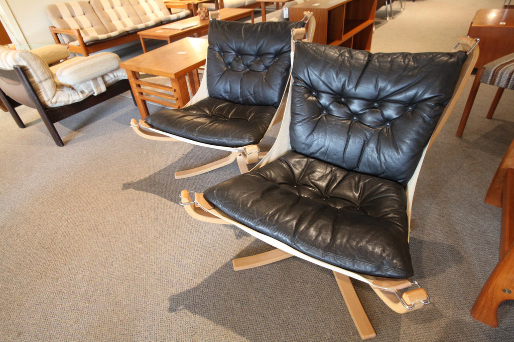 (Pair) of Original Sigurd Ressell 70's Falcon Chairs