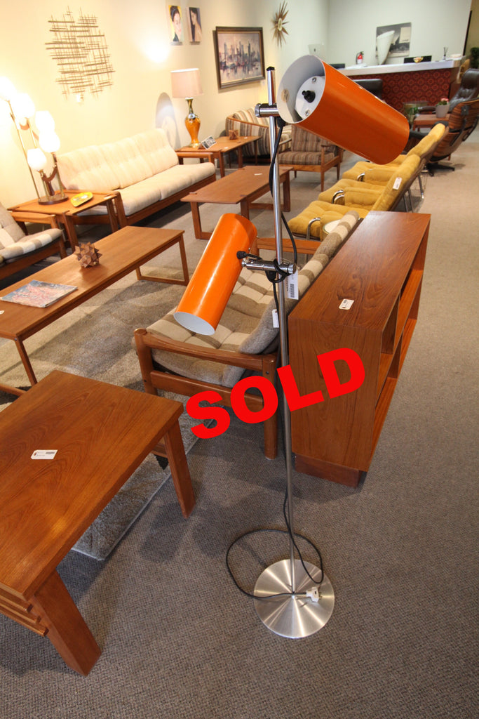 "Cool Orange 70's Floor Lamp (55""H)"