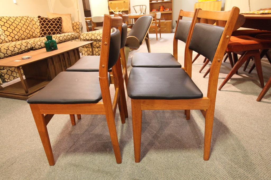 Set of 4 Teak Chairs (Recently Recovered)