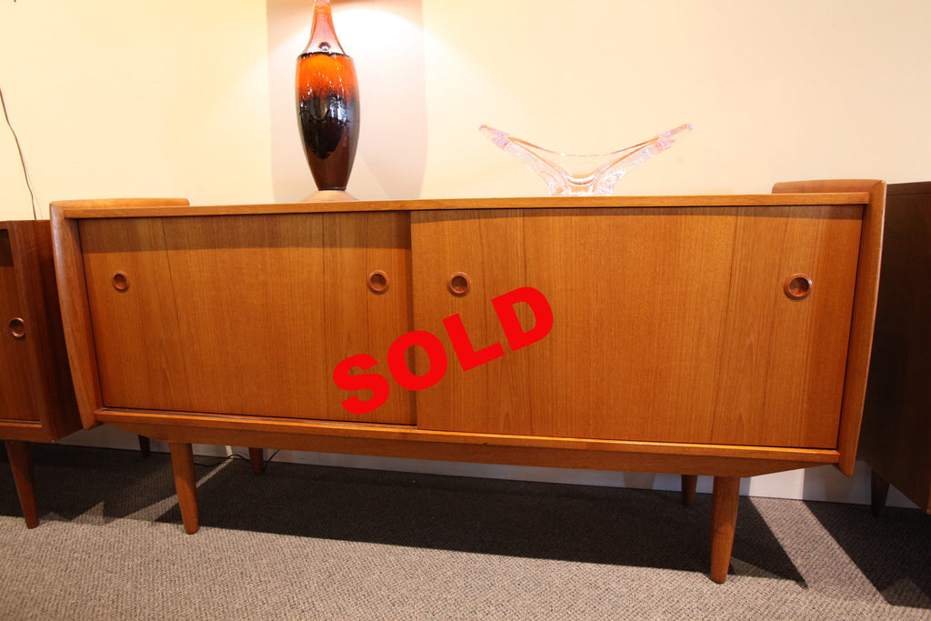 "Beautiful Danish Teak Credenza (60""L x 16""D x 30""H)"