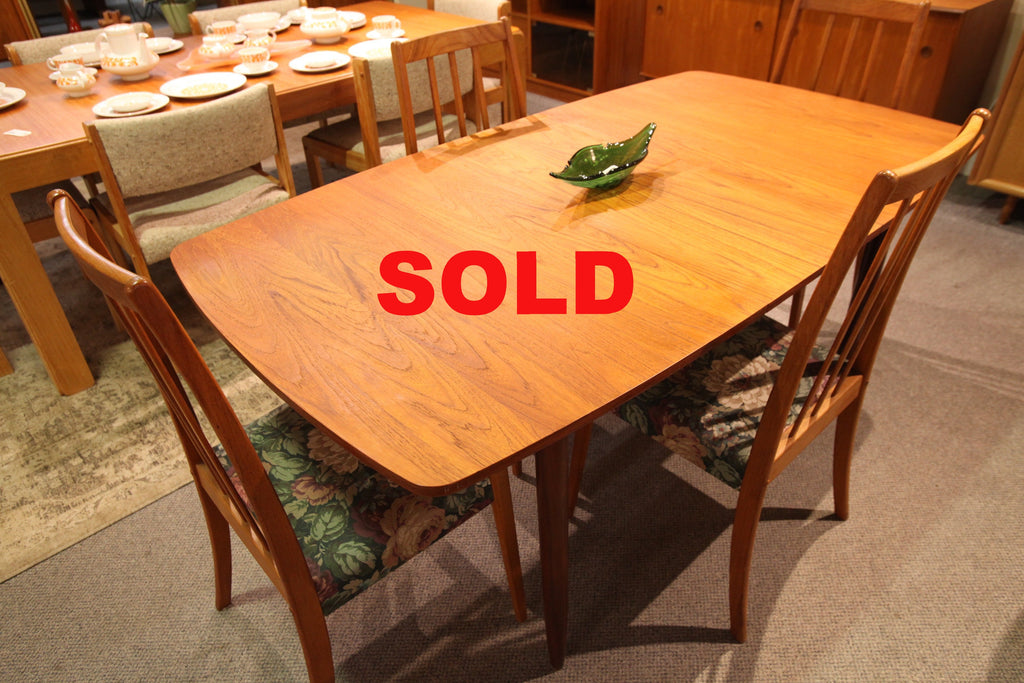 "Teak Table w/butterfly Leaf (65.5""L x 35.5""W) (50.5""L x 35.5""W)"
