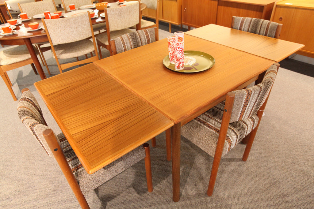 "Danish Teak Extension Table (33.5""L x 33.5""W) (64""L x 33.5""W)"
