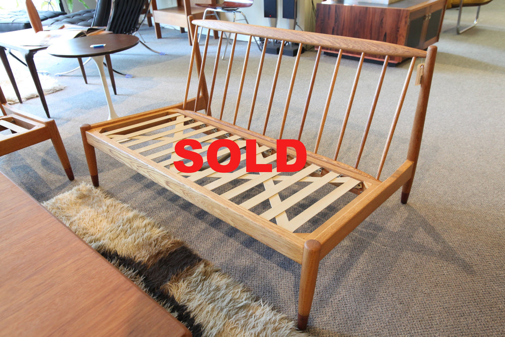 Folke Ohlsson for Dux Mid Century Danish Oak Love Seat