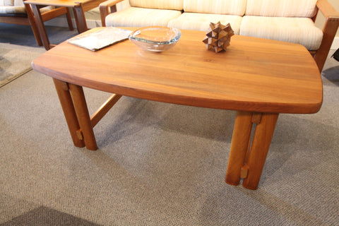 "Lysgaard Mobler Danish Solid Teak Coffee Table (52""L x 31""W x 19""H)"