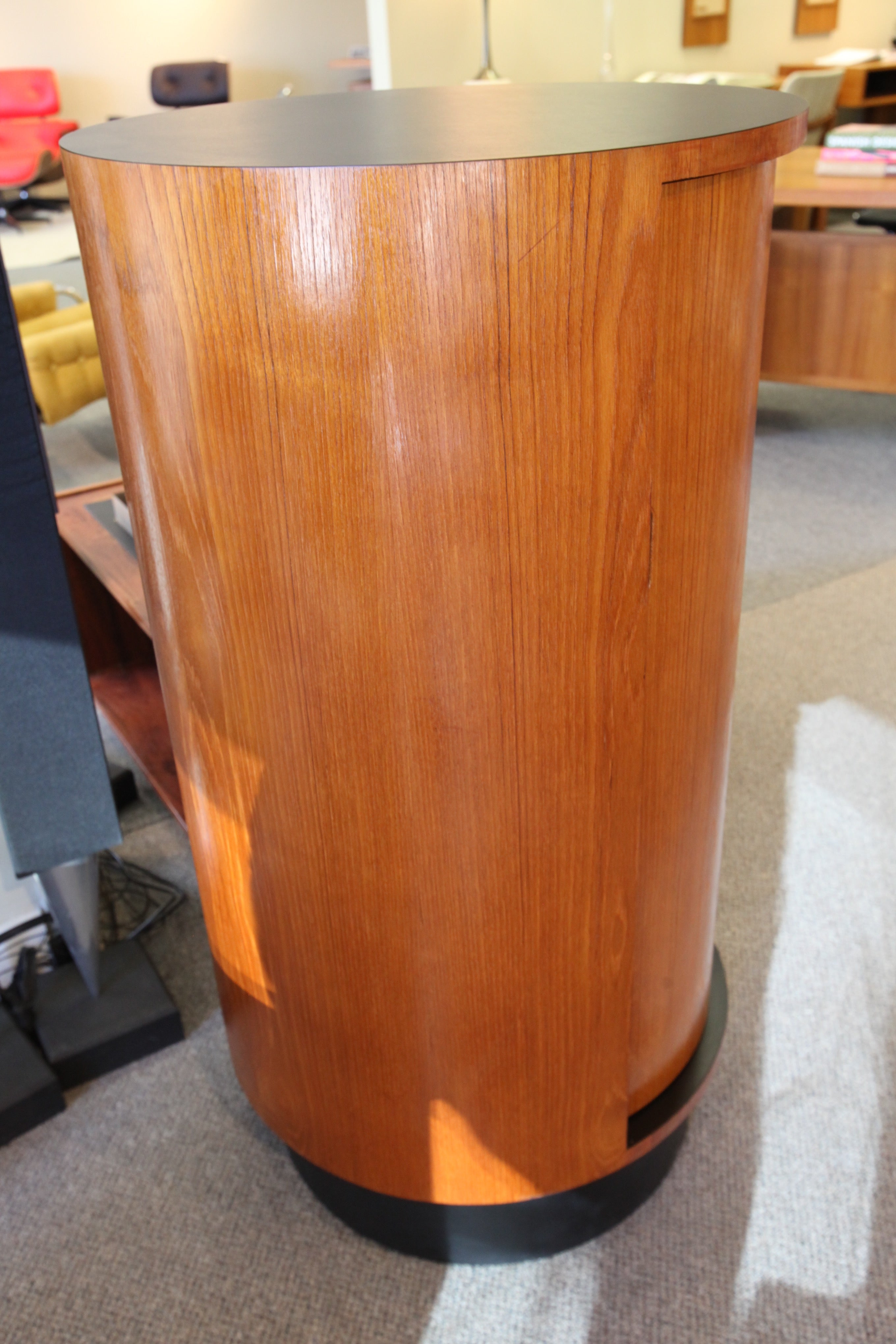 "RS Associates Montreal Revolving Teak Bar (Late 60's) (44.25""H x 23.25"" across)"