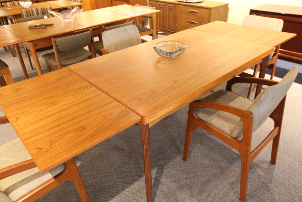 "Danish Teak Table w/hidden slide out leafs (93"" x 35.5"") or (55"" x 35.5"")"