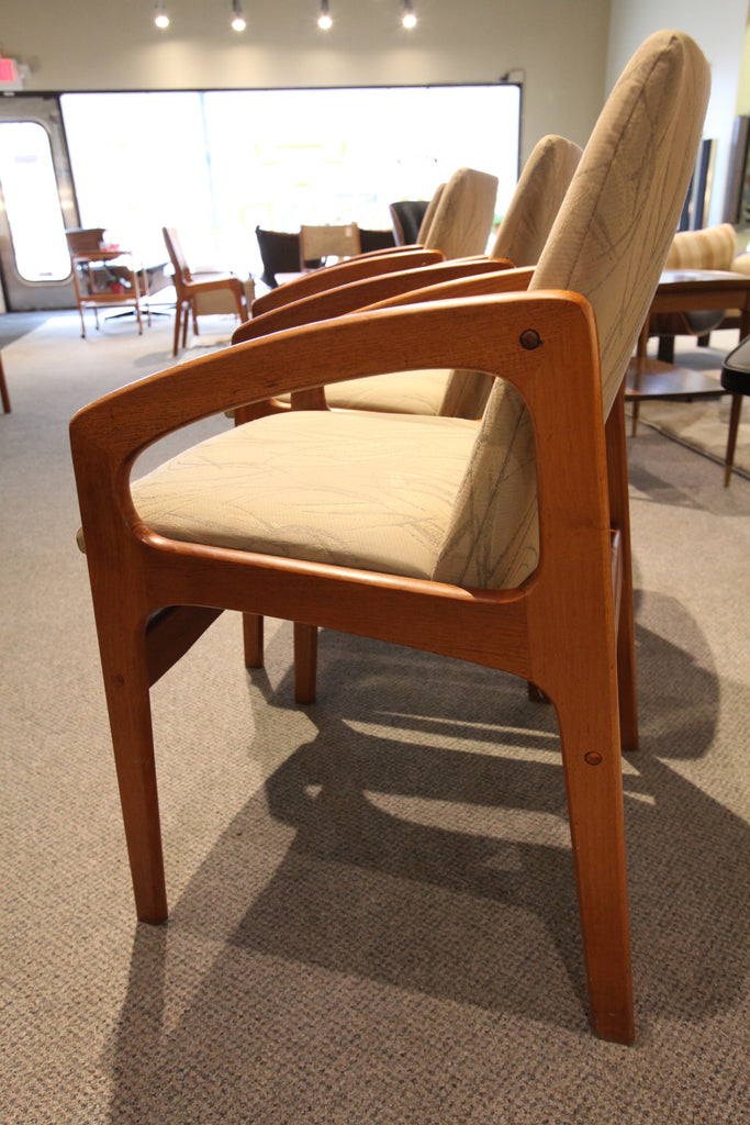 Set of 4 Danish Teak Arm Chairs
