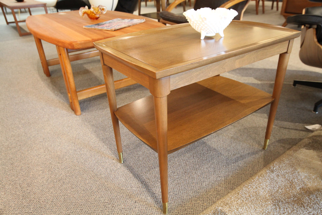 "Deilcraft Vintage Walnut Side Table (28""L x 18""W x 22""H)"