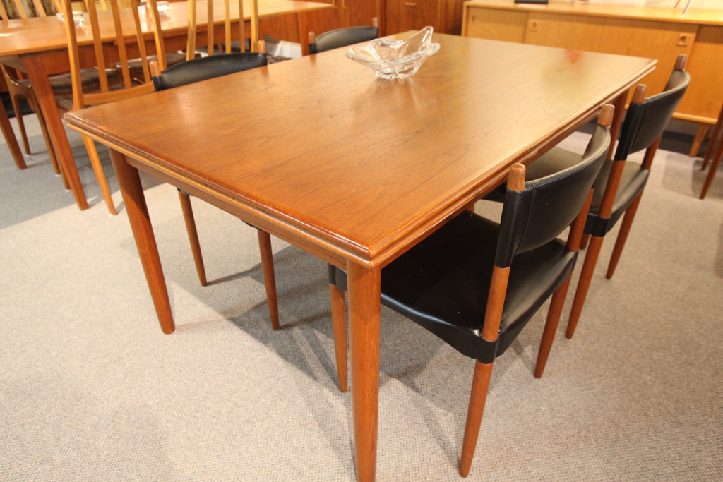 "Danish Teak Dining Table with Pullout Extensions (102"" x 39"") or (59"" x 39')"