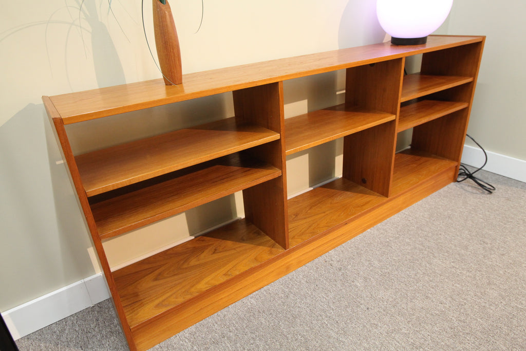 "Danish Teak Bookshelf w/adjustable shelfs (70.5""L x 11.5""D x 30""T)"