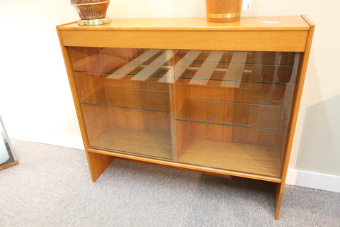 "Dyrlund Danish Hutch w/glass doors and Shelves (47.5""W x 12.5""D x 41""H)"