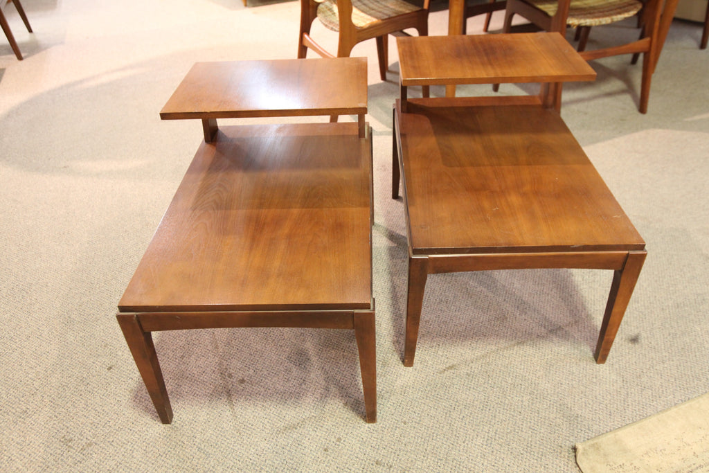 "Set of 2 Vintage Walnut End Tables (30""L x 19""W x 23""H)"