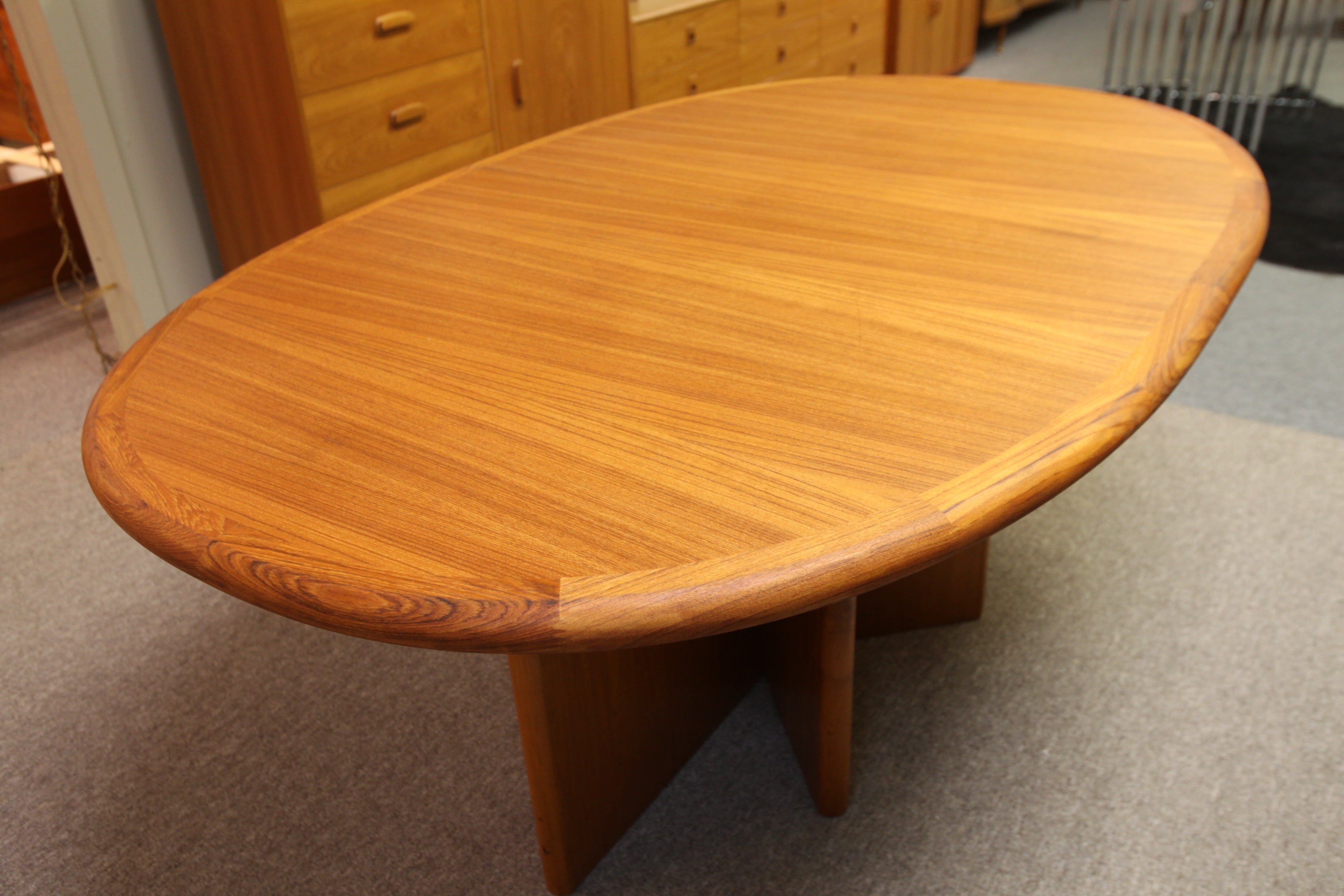 "Ansager Mobiler Danish Teak Table w/ 2 Leafs (45"" x 110"") (45"" x 70.5"")"