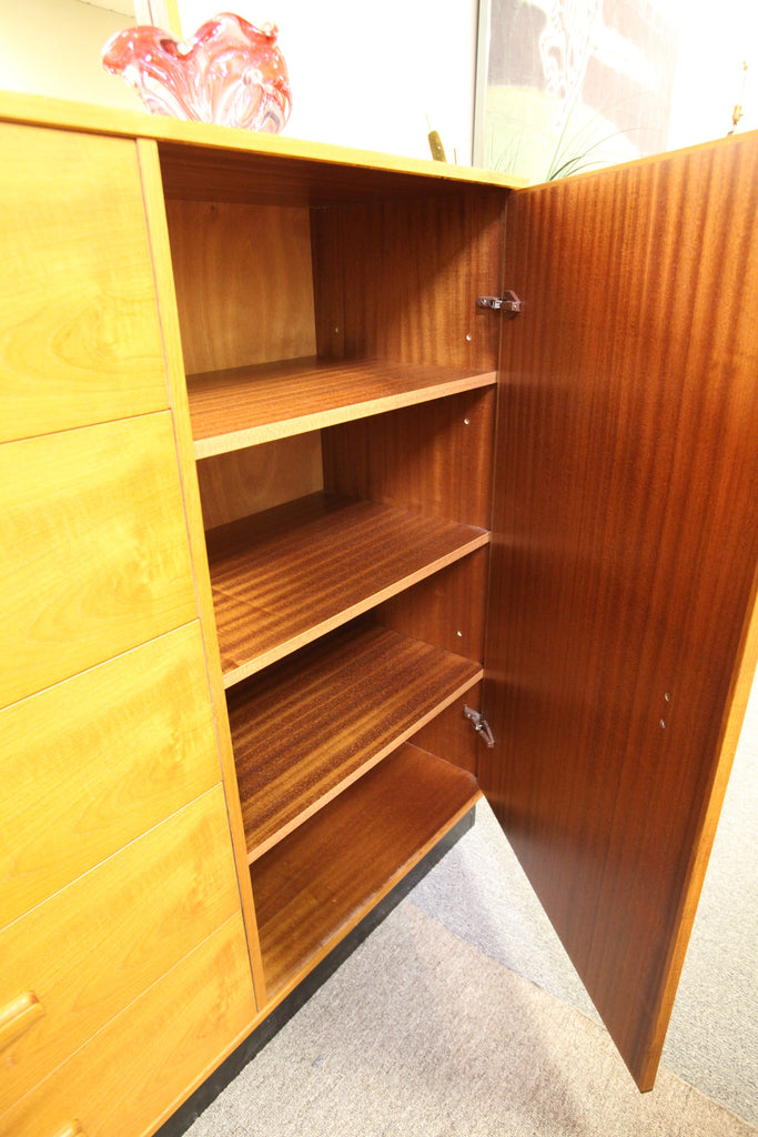 Teak 5 Drawer Armoire