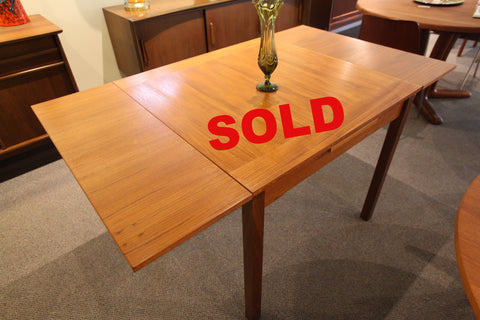 "Small Danish Teak Extension Table (33.5"" x 57"") or (33.5"" Square)"