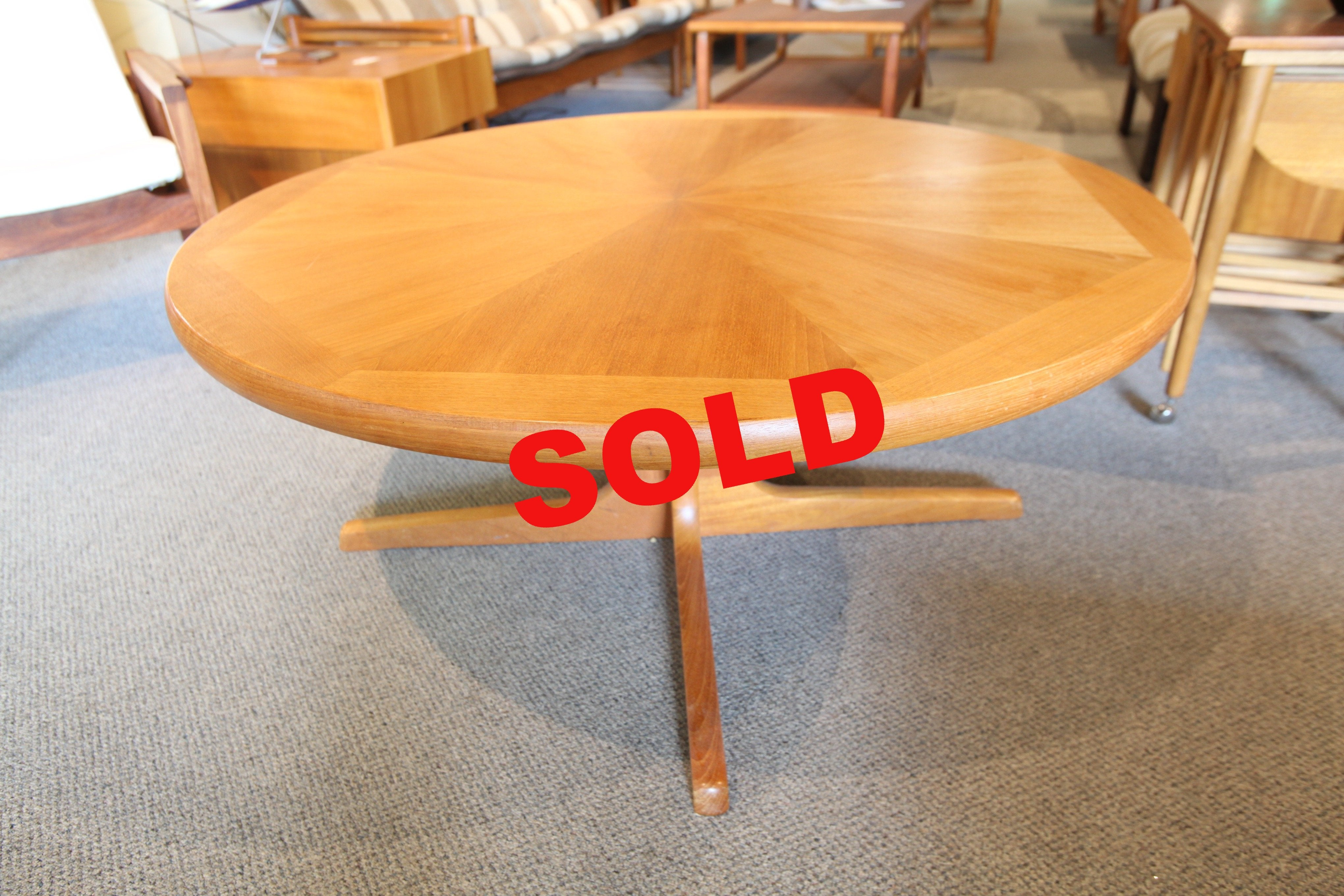 "Round Teak Coffee Table (41"" Dia x 18""H)"