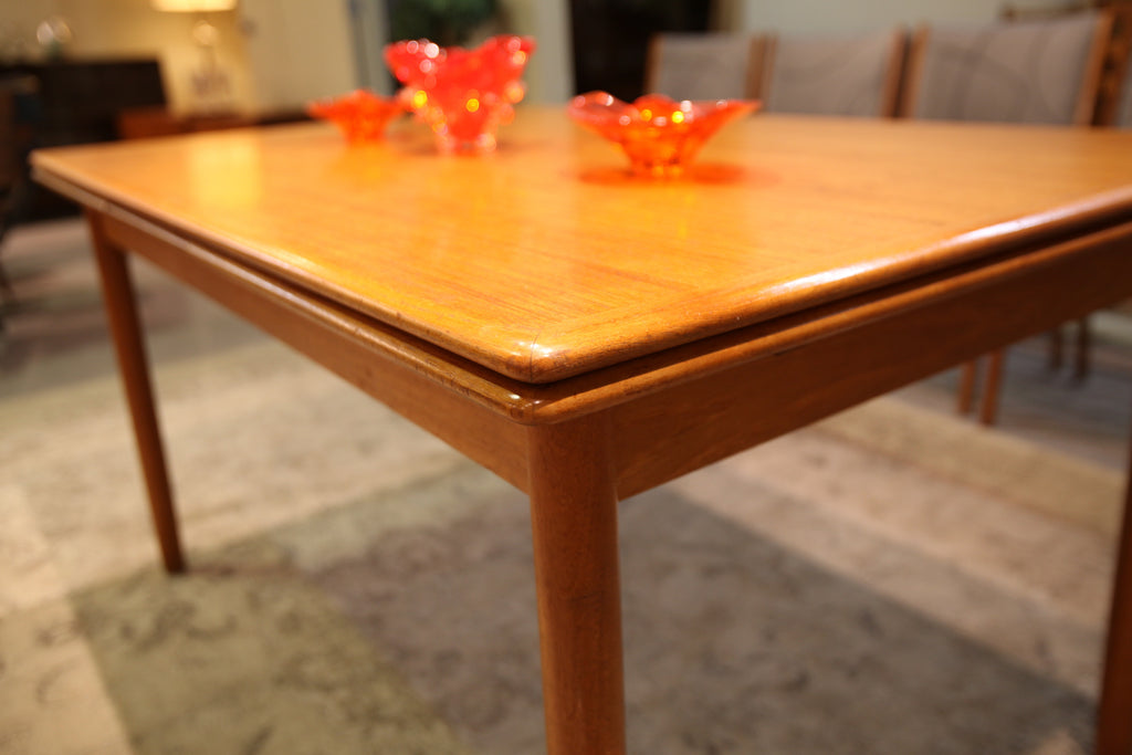 "Mid Century Danish Teak Dining Table w/Pullout Extensions (97""L x 35""W) or (55""L x 35""W)"