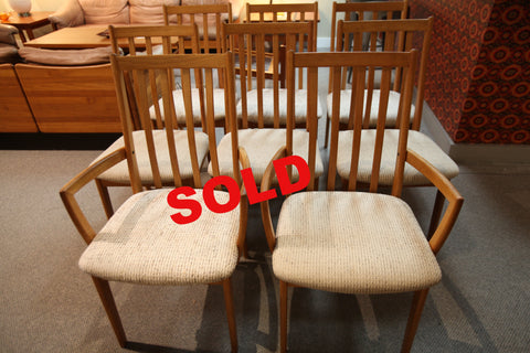 Set of 8 Vintage MCM Teak Chairs