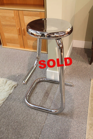 Vintage Chrome Paper Clip bar Stool (by Kinetic)