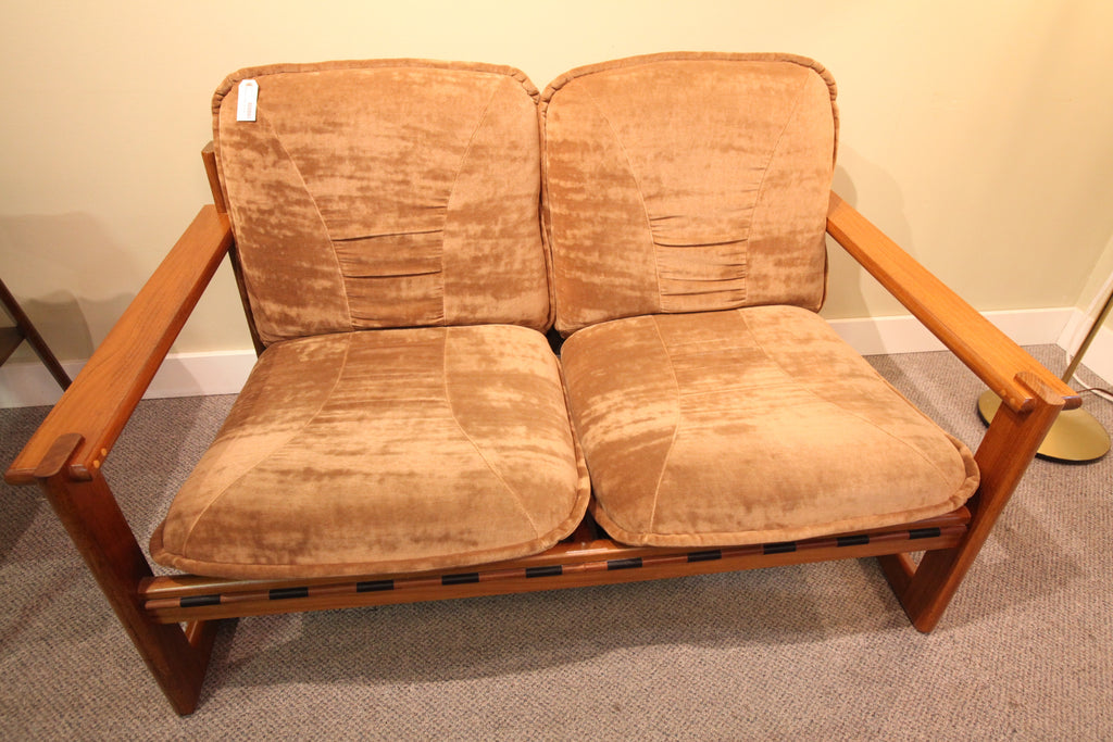 "RS Associates Montreal Teak Love Seat (52""W x 32""D)"