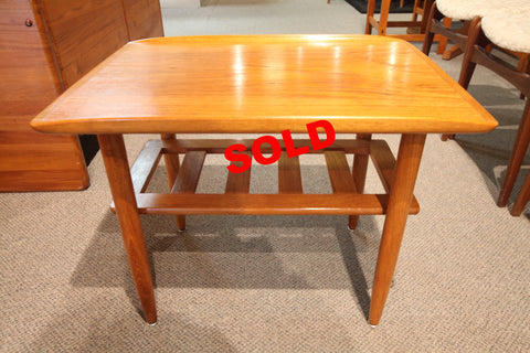 "Teak Side Table (25.5""L x 18.5""W x 20""H)"