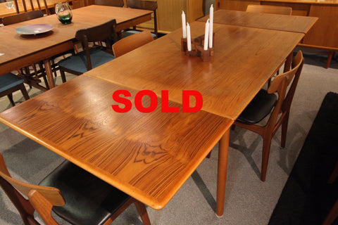 "Danish Teak Extension Dining Table (97"" x 39"") or (55"" x 39"")"